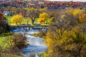 See the Fall Colors along the Root River Trail Near our Lanesboro Mn Bed and Breakfast